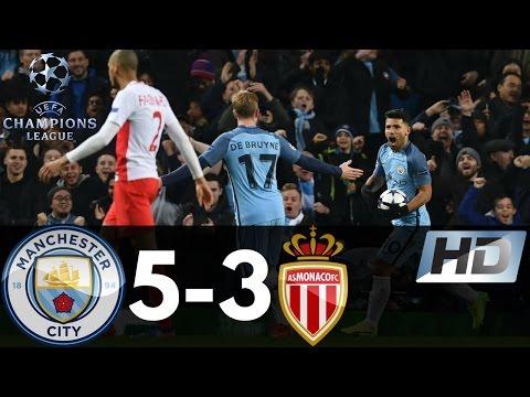 Manchester City vs Monaco 5-3 UEFA Champions League All Goals & Highlights 21/02/2017