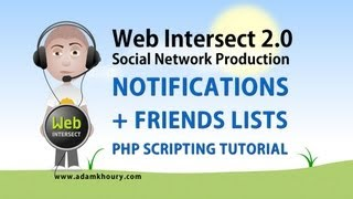 12. Friend Lists And Social Website Notifications PHP MYSQL JavaScript Ajax Tutorial