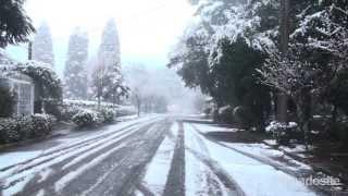Por volta das 21h de segunda-feira, 26 de agosto, a chuva congelada começou a cair em Gramado. Com o cair da temperatura...