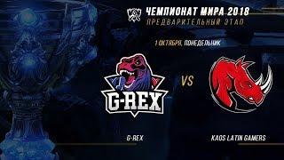GRX vs KLG — ЧМ-2018, Плей-ин, День 1, Игра 4 / LCL / LCL