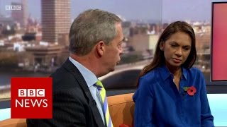 Video Nigel Farage to Gina Miller 'What part of leave don't you understand?' BBC News MP3, 3GP, MP4, WEBM, AVI, FLV Maret 2019