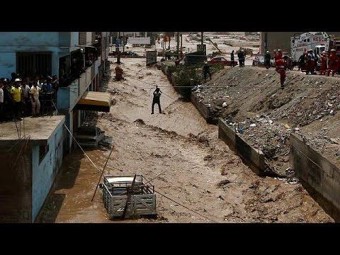 Δραματική η κατάσταση από τις πλημμύρες στο Περού