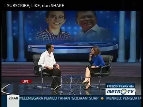 Jokowi - Presiden Pilihan kita - Metro TV 10 Juli 2014 [ FULL ]:  Jokowi presiden Pilihan kita - Metro TV 10 Juli 2014 http://ascendents.net/?v=zgSJZD43sUEJoko widodo Presiden Terpilih versi Quick Count hadir di program acara Presiden Pilihan kita di Metro TV. Jokowi memaparkan program, suka duka dan strategi kampanye serta harapan rakyat terhadap Jokowi.lagu jokowi jksalam 2 jari salam dua jariJokowi lagujokowi capres 2014jokowi mata najwajokowijokowi capres 2014jokowi full moviemata najwa jokowijokowi nyapresjokowi vs prabowokampanye jokowipidato jokowimata najwaiklan jokowijokowi mata najwaprabowo vs jokowidebat jokowidebat capres jokowiiwan fals jokowijokowi metro tvprofil jokowirevolusi mental jokowijoko widodojokowi 2014SUBSCRIBE, LIKE, dan SHARE