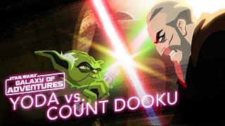 Yoda vs. Count Dooku - Size Matters Not | Star Wars Galaxy of Adventures