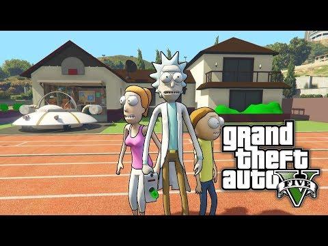 GTA 5 MOD - Rick and Morty House (Smith residence) (видео)