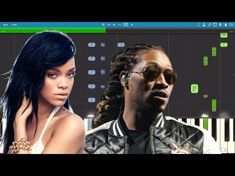 Future - Rihanna - Selfish - Piano Instrumental Tutorial