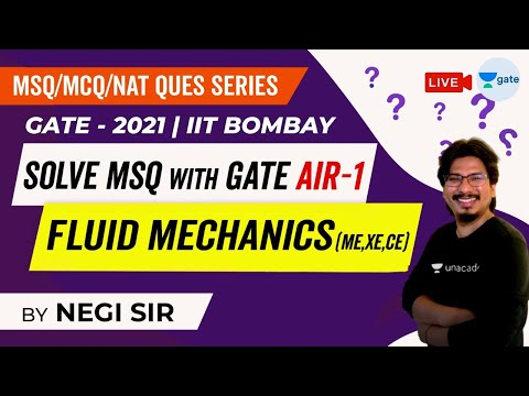 Fluid Mechanics Questions | Solve MSQ with GATE AIR - 1 | MSQ/MCQ/NAT Ques, GATE - 2021 (IIT Bombay)