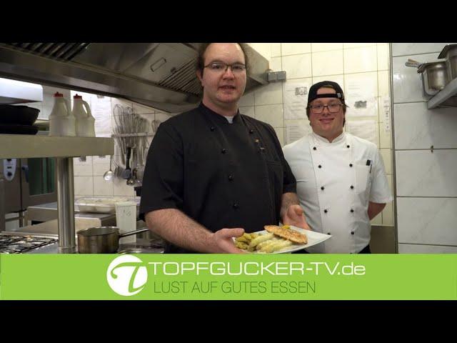 Lachsfilet   Spargel   Butter-Kräutersauce   Schlosskartoffeln   Topfgucker-TV