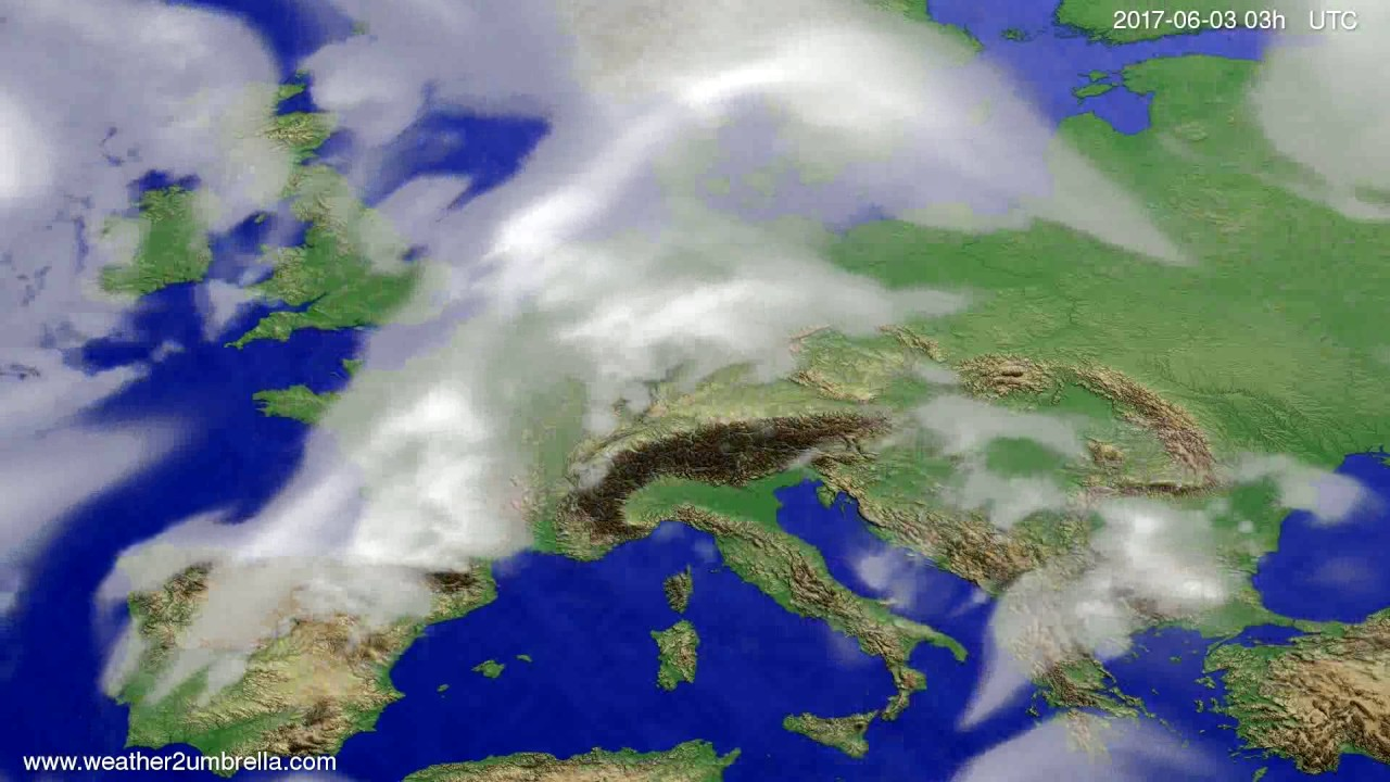 Cloud forecast Europe 2017-05-31
