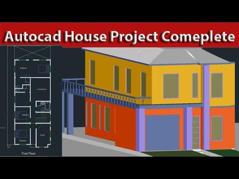 AutoCAD 2d And 3d Beginner To Advance House Project Tutorial