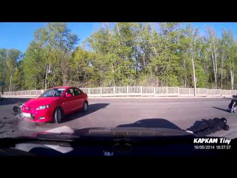 Авария с Мотоциклистом в Кирове