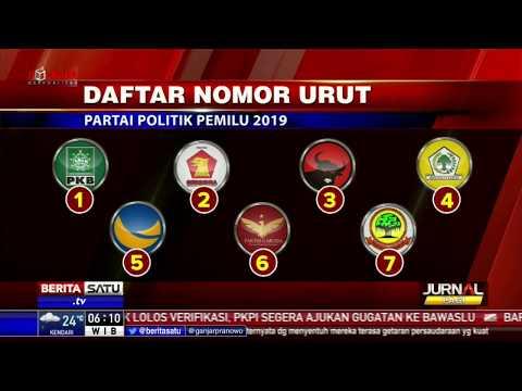Daftar Nomor Urut Parpol Peserta Pemilu 2019
