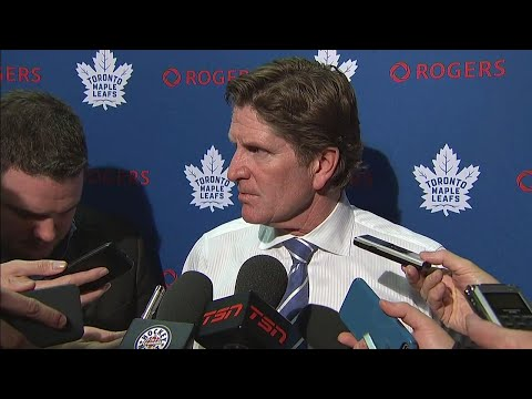 Video: Babcock pleased with the way Leafs battled despite slow start
