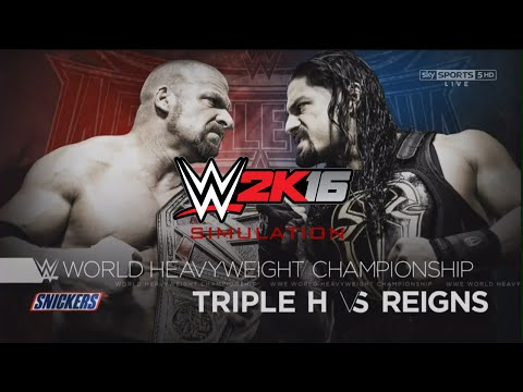 WWE Wrestlemania 32 - Triple H vs Roman Reigns [WWE 2K16 Simulation]