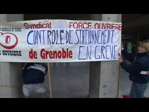 Grève des agents de stationnement à Grenoble