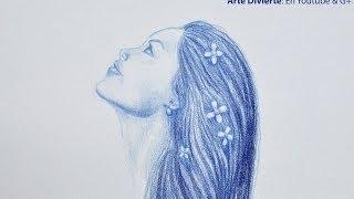 Dibujo Time Lapse: cómo dibujar una mujer de perfil - Arte Divierte.
