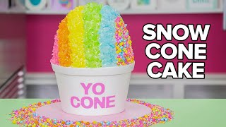 Video GIANT SNOW CONE CAKE!! | How To Cake It MP3, 3GP, MP4, WEBM, AVI, FLV Desember 2018