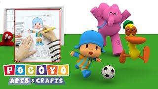 Pocoyo português Brasil - Pocoyo Arts & Crafts: Jumping Jack Futebol