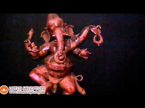 SOLD Brass Dancing Ganesh Statue 23