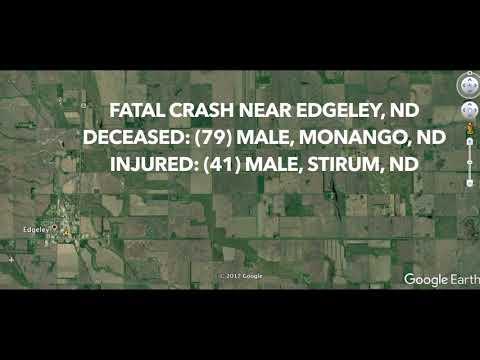 Fatal Crash Near Edgeley, ND (видео)