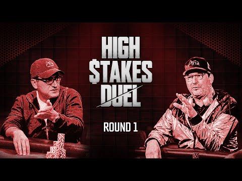 High Stakes Duel | Round 1 | Antonio Esfandiari vs. Phil Hellmuth