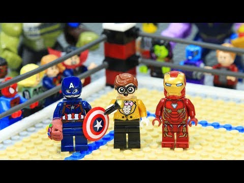 Lego Superhero Iron Man Vs Captain America Wwe Stop Motion Animation