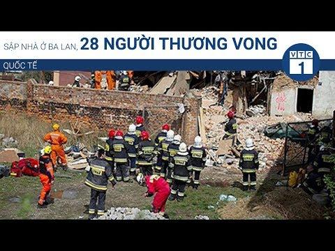 Sập nhà ở Ba Lan, 28 người thương vong | VTC1 - Thời lượng: 26 giây.