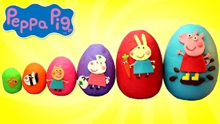 Video Smallest to Biggest PEPPA PIG and Friends Play Doh Surprise Eggs MP3, 3GP, MP4, WEBM, AVI, FLV Agustus 2017