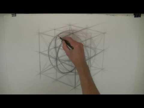 Malkurs Kugel zeichnen Malschule. Drawing lesson