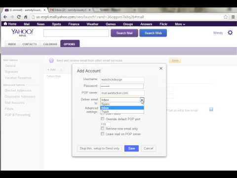 Tutorial: Yahoo! Mail - Add additional email accounts to your existing Yahoo! mail