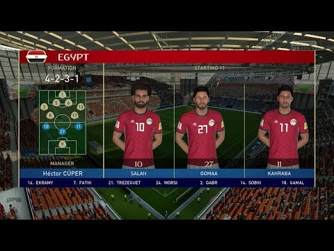 2018 FIFA World Cup Russia - Egypt Vs Uruguay (Full Gameplay)