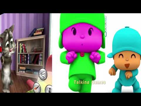 Learn Colors with Talking Pocoyo & Talking Pato Colors #MY Tom Compilation 2018