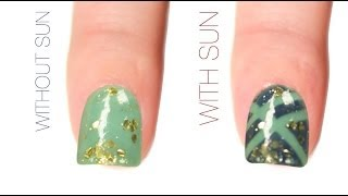 Criss Cross Color-Changing Nail Art Design