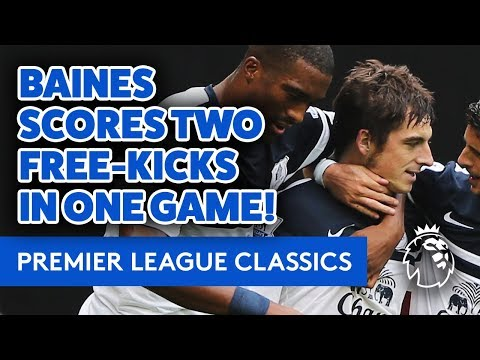 BAINES SCORES TWO FREE-KICKS IN THE SAME GAME! | PREMIER LEAGUE CLASSICS