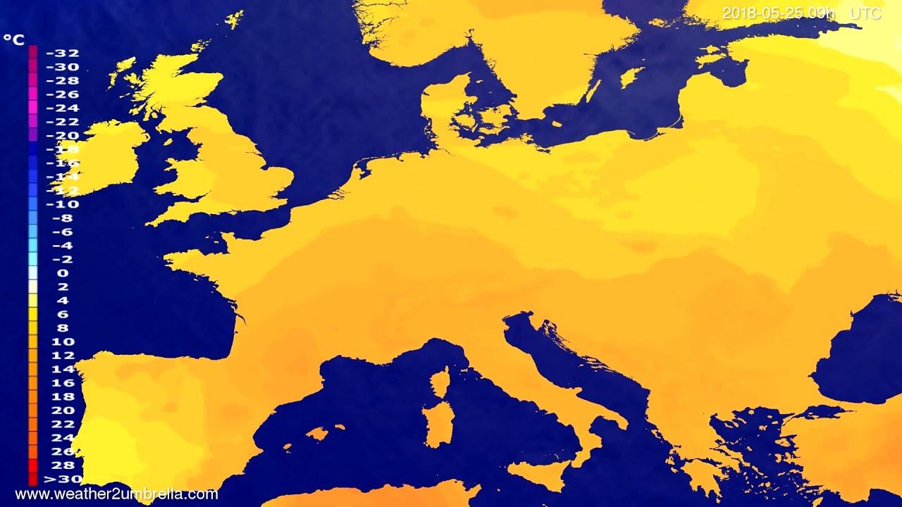 Temperature forecast Europe 2018-05-23