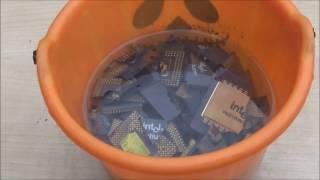 Como se extrae el ORO de CPU ceramicos. Parte 1.