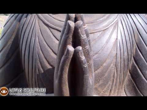 SOLD Stone Namaste Buddha Sculpture 44