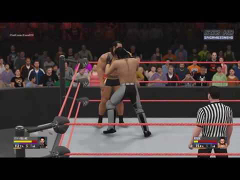 WWE Raw 2016 - Seth Rollins VS Rusev Full Match HD