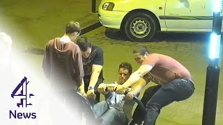 CCTV Shows Drunken Group At 3am Figuring Out A Way To Fix A Broken Bike Rack