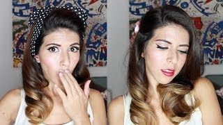 Peinados Y Maquillaje PIN-UP Muy Facil! Easy And Wearable Pin Up Look Por Lau