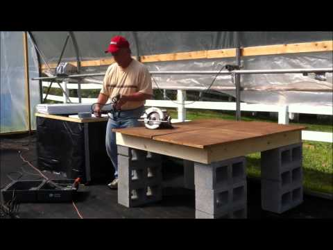 How to build a 4'X4' Non-Circulating Kratky Hydroponic Grow Bed