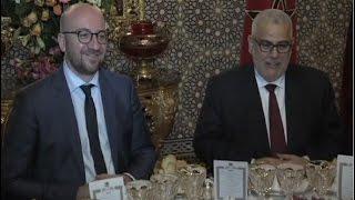 صاحب الجلالة يقيم مأدبة عشاء على شرف الوزير الأول البلجيكي ترأسها رئيس الحكومة