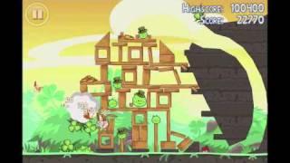 Angry Birds Seasons 3 star walkthrough Go Green, Get Lucky level 1-8
