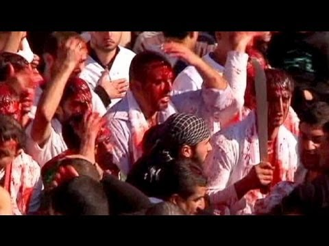 ashura - No Comment | euronews: watch the international news without commentary | http://www.euronews.net/nocomment/ Hundreds of Shi'ite mourners mark Ashura in the s...