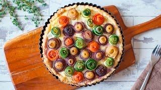 Torta de legumes com massa folhada