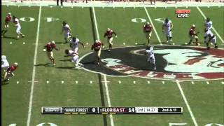 Cornellius Carradine vs Wake Forest (2012)