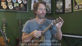 Ukulele lesson #1 Anatomy of the uke, right&left hand technique - Uke Lessons for Beginners