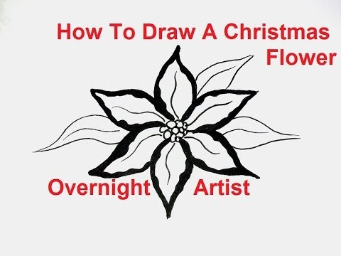 How to draw flowers –  draw a christmas flower