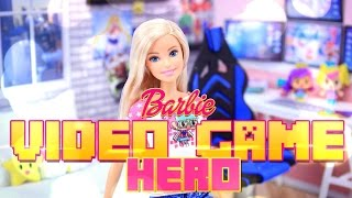 Unbox Daily: Barbie Video Game Hero - Barbie Doll - Doll Review - 4K