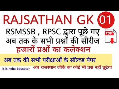 RSSB LIBRARIAN GRADE-III EXAM  RAJ GK SPECIAL CLASS-1 INDUST INSP EXAM PAPER DISCUSSION only raj  gk